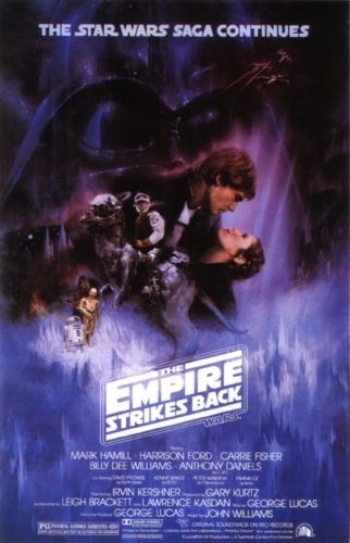 Impero Colpisce Ancora Star Wars Locandina Poster Film
