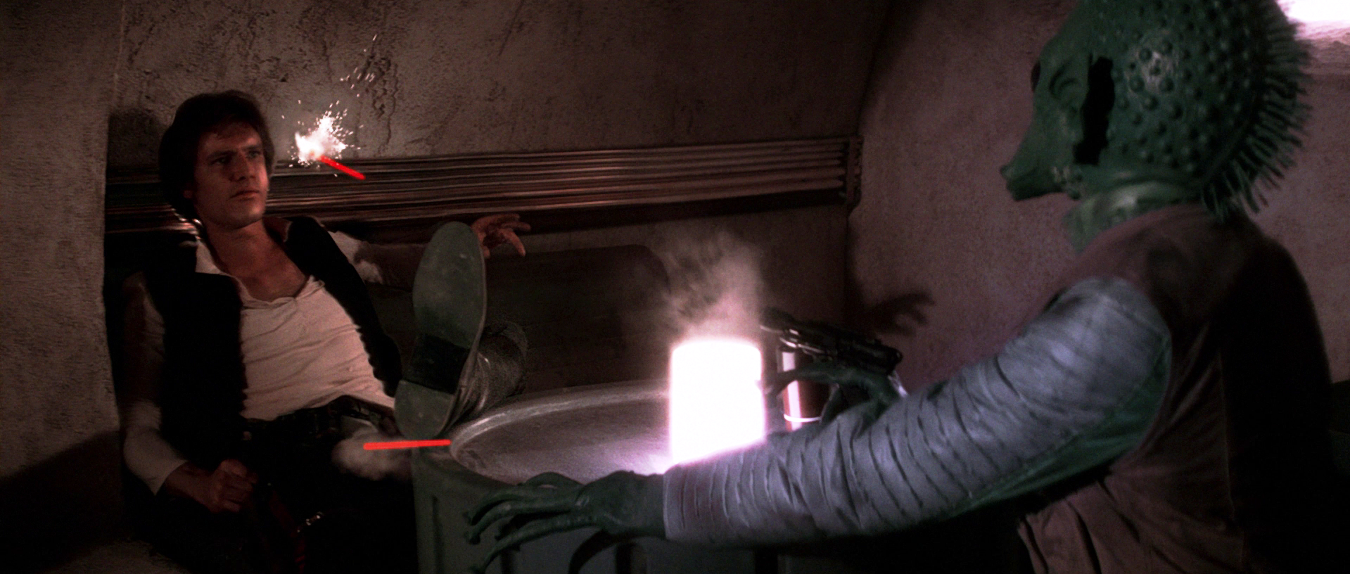Greedo shot first in star wars
