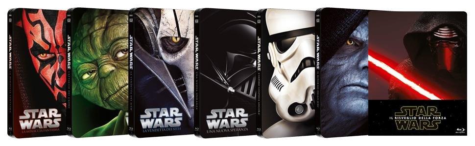 amazon bluray star wars steelbook saga in offerta