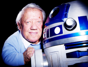 Kenny Baker in Star Wars attore R2-D2