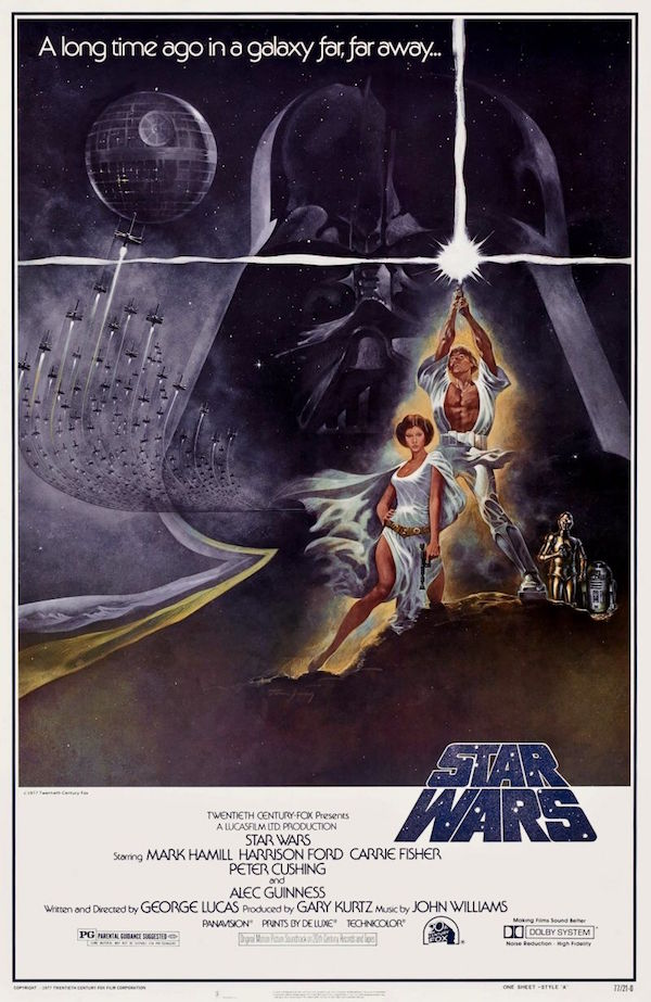 locandina star wars 1977 Tom Jung