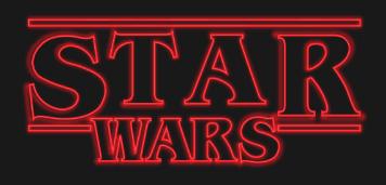 logo Star Wars riferimenti in Stranger Things serie tv