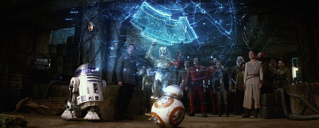 R2-D2 mappa Luke Skywalker Star Wars Il Risveglio della Forza