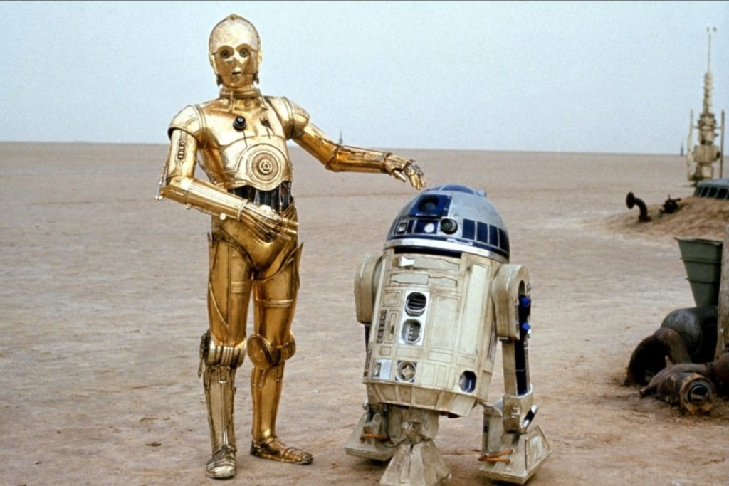 intervista a lucas R2-D2 e C3PO droidi Star wars