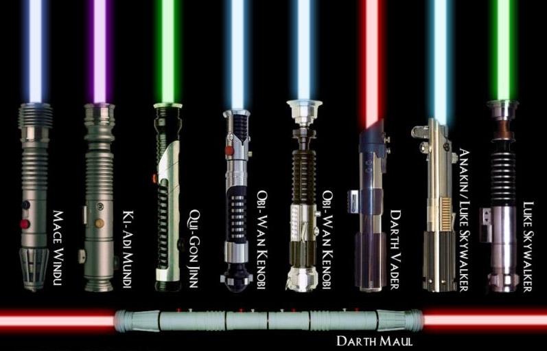 arma di star wars la creazione delle spade laser in Star Wars