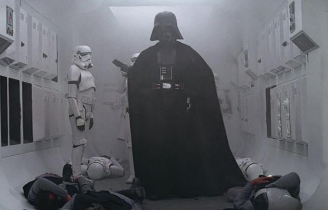 curiosità darth vader in star wars una nuova speranza ingresso marcia imperiale