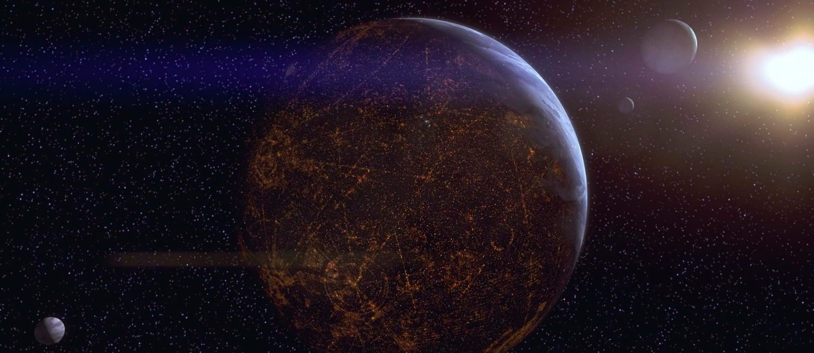 repubblica galattica pianeti simili città spazio pianeta coruscant