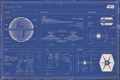 poster piani rubati morte nera millenium alcon star wars disegni