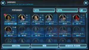 galaxy of heroes personaggi selezionabili