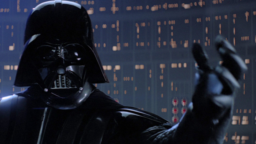 armatura di Darth Vader e segreto di io sono tuo padre in star wars