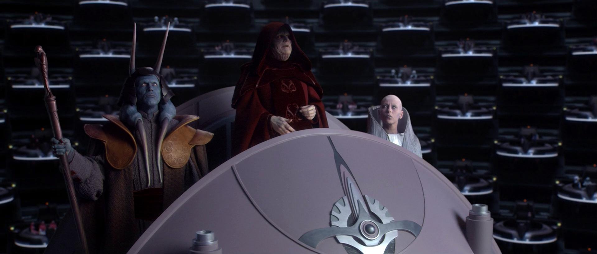 sidious pone fine della repubblica galattica star wars
