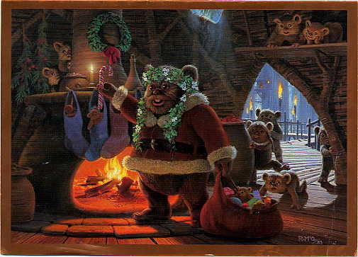 ewok natale christmast carta