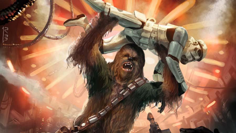 chewbacca soldato imperiale