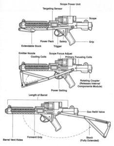 blaster schema e-11 sterling star wars