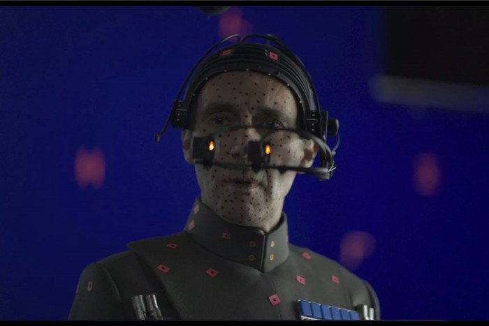grand moff tarkin in CGI in rogue one star wars