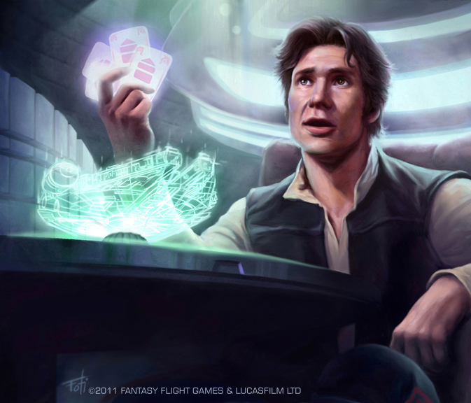 millennium falcon han solo artwork star wars