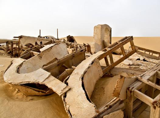 set di star wars in tunisia abbandonato