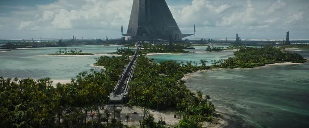 Scarif pianeta star wars rogue one base impero set