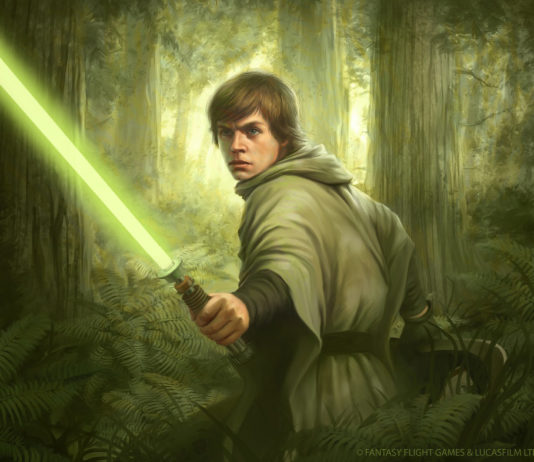 luke skywalker endor battaglia spada laser