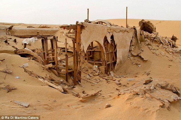 set distrutto di star wars in tunisia