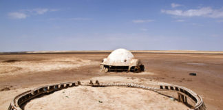 abbandono del set di star wars in tunisia