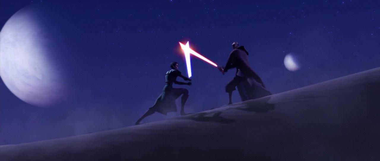 anakin skywalker conte dooku star wars clone wars
