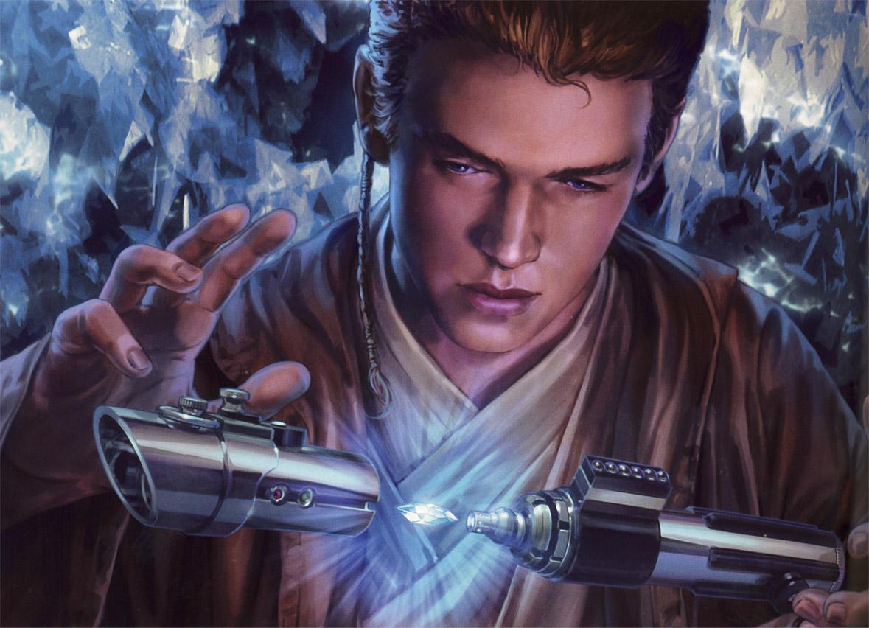 la spada laser di anakin, arma di star wars