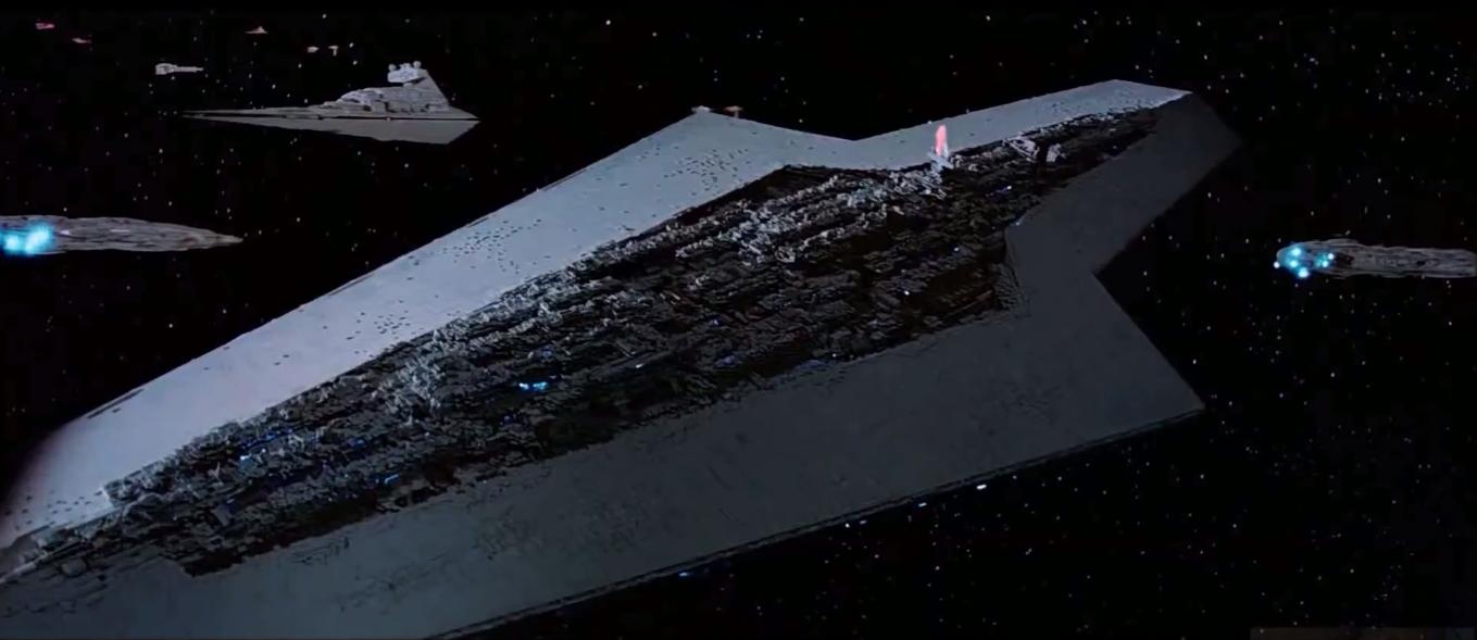 star destroyer executor nello spazio