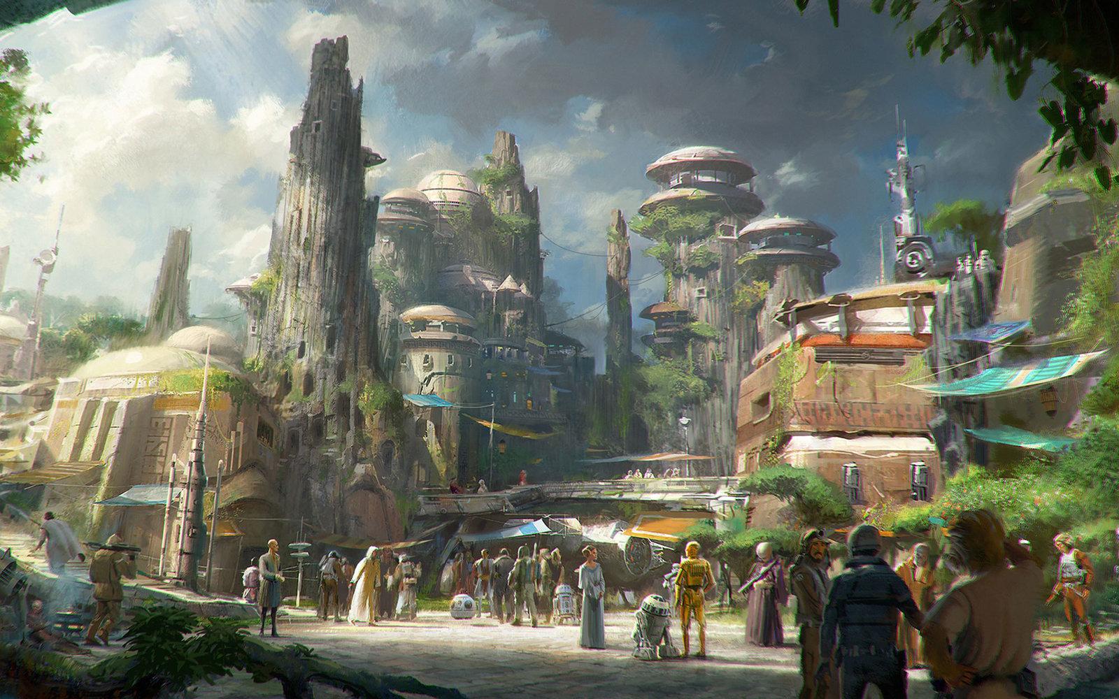 interno del parco star wars land