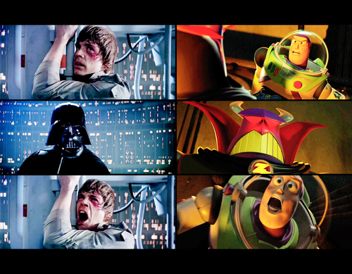 star wars riferimento easter egg zurg darth vader buzz luke skywalker