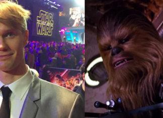 messaggio dell'attore che interpreta chewbacca star wars