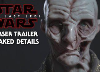 informazione teaser trailer trapelato snoke luke leia episodio viii star wars