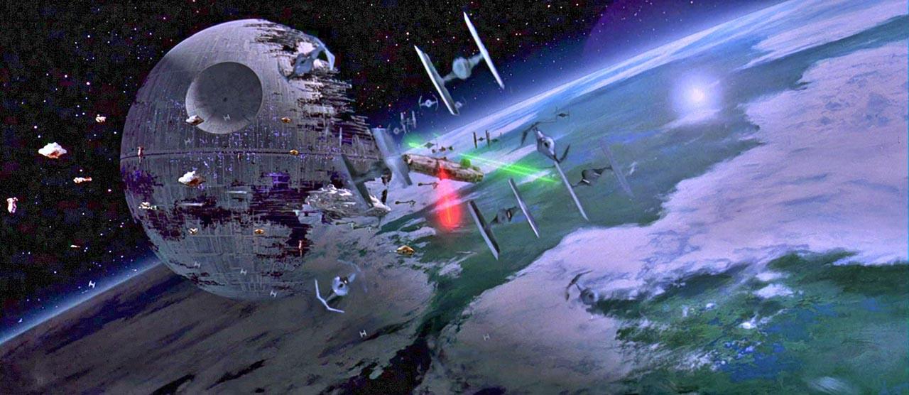 seconda morte nera endor battaglia spazio