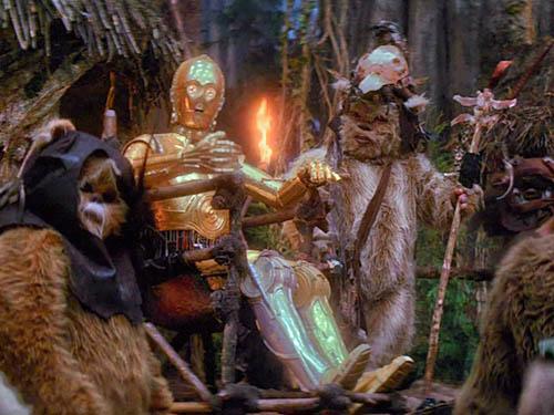 episodio vi star wars il ritorno dello jedi c3po ewok cannibali