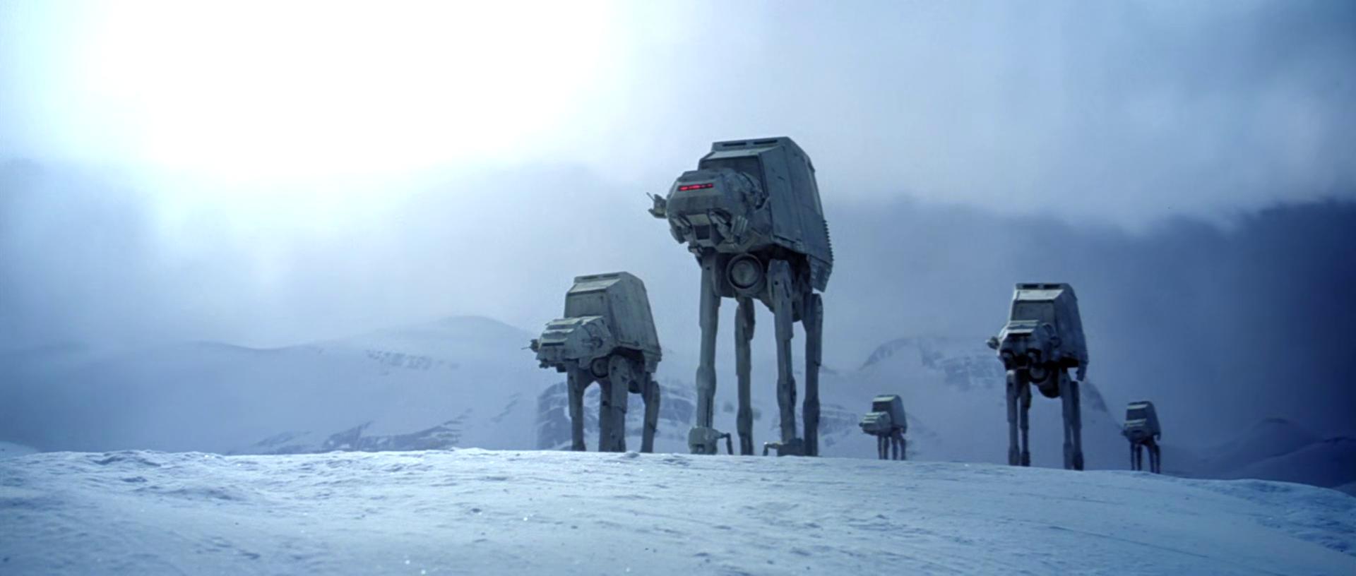 camminatori effetti speciali star wars battaglia di hoth at-at