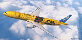aereo a tema star wars c3po giappone