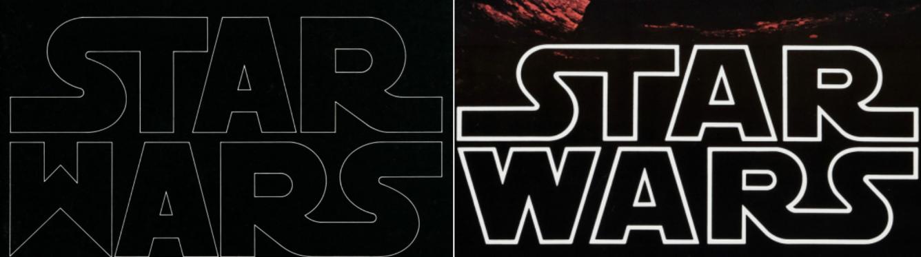 storia del logo di star wars