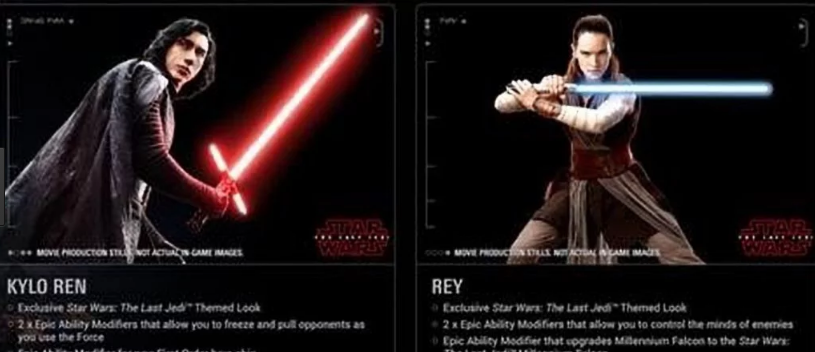 look rey e kylo ren star wars