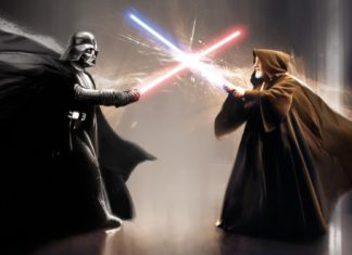 combattimento con spade laser star wars