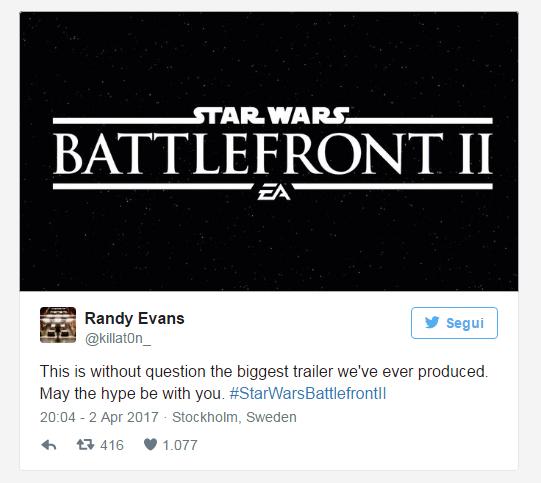 randy evans di DICE battlefront 2 trailer star wars