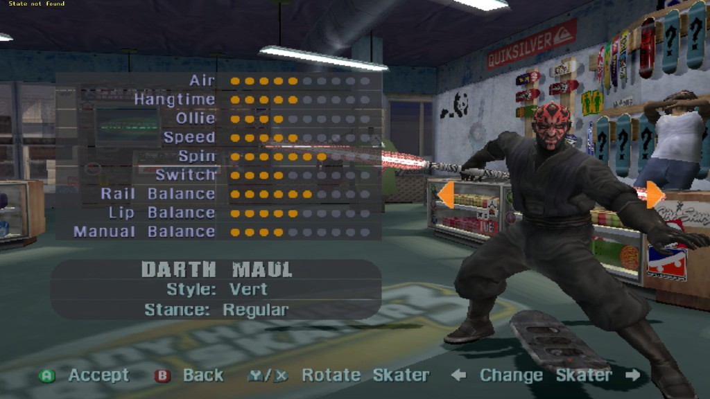 tony hawk's pro skater darth maul