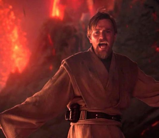 Ewan McGregor star wars episodio iii la vendetta dei sith high ground