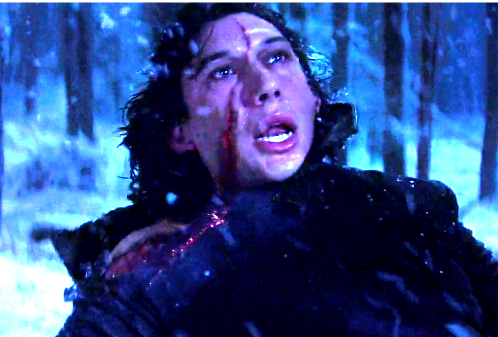 cicatrice di kylo ren in star wars