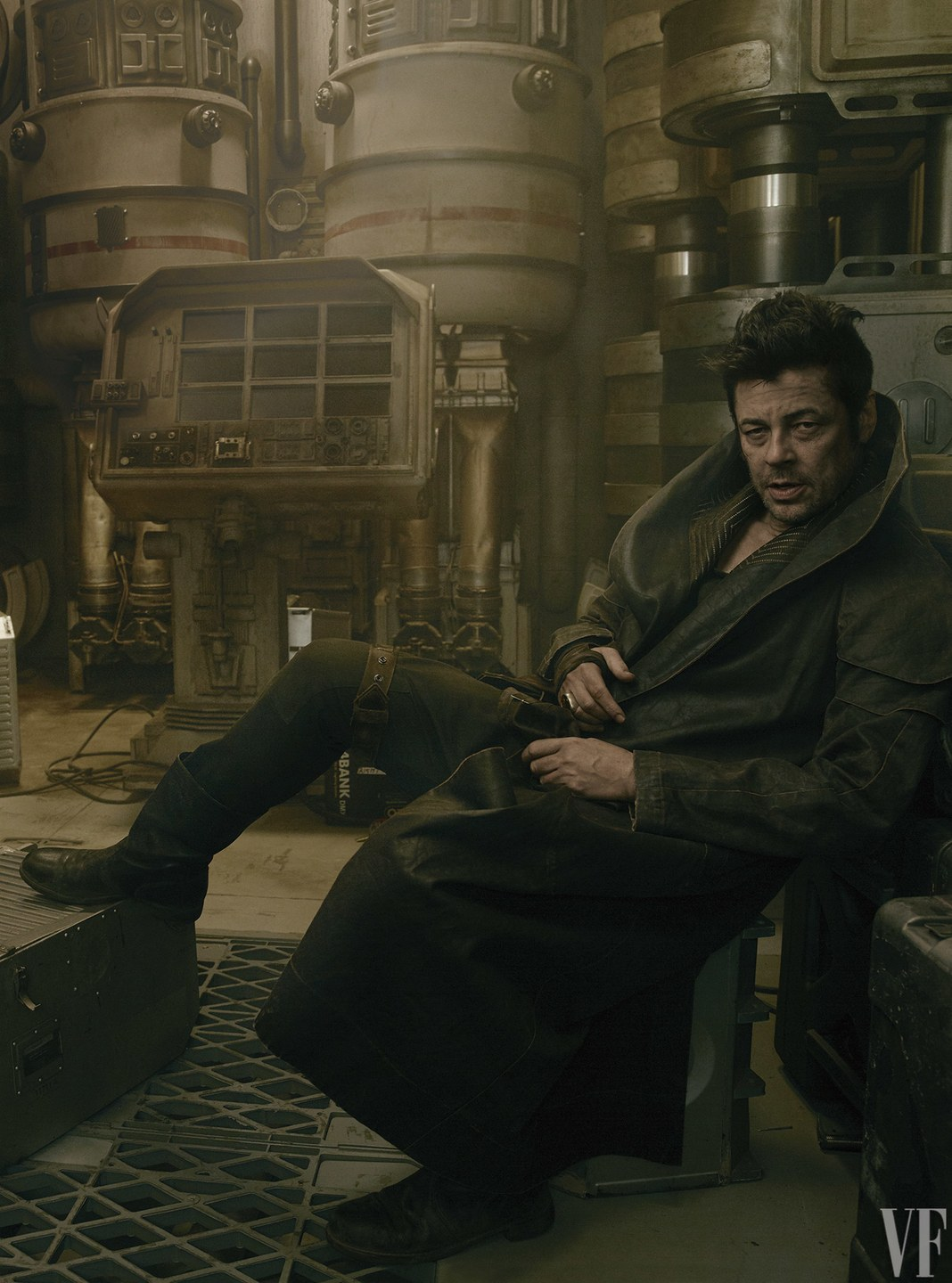 benicio del toro star wars episodio viii set foto