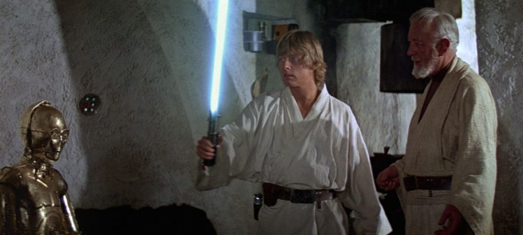personaggi asta spada laser di anakin rey