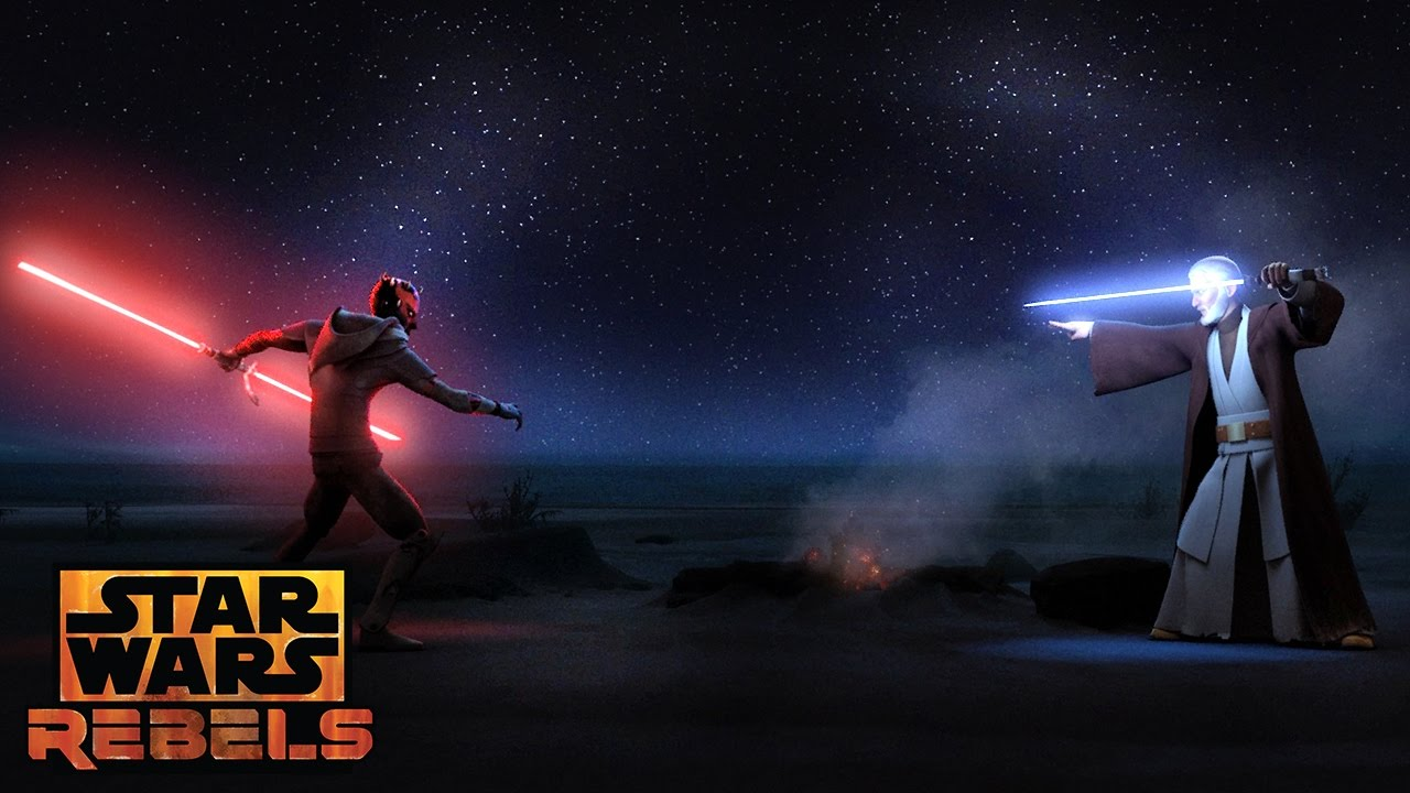 maul e obi-wan in rebels star wars