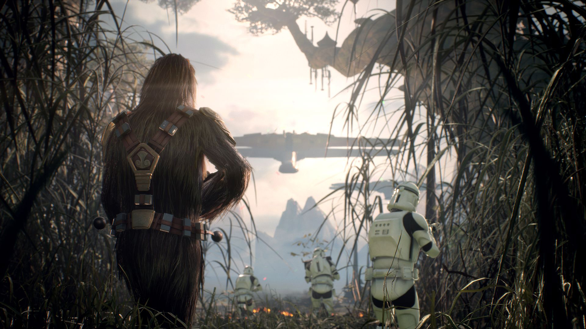 personaggi battlefront ii gameplay ea los angeles chewbacca