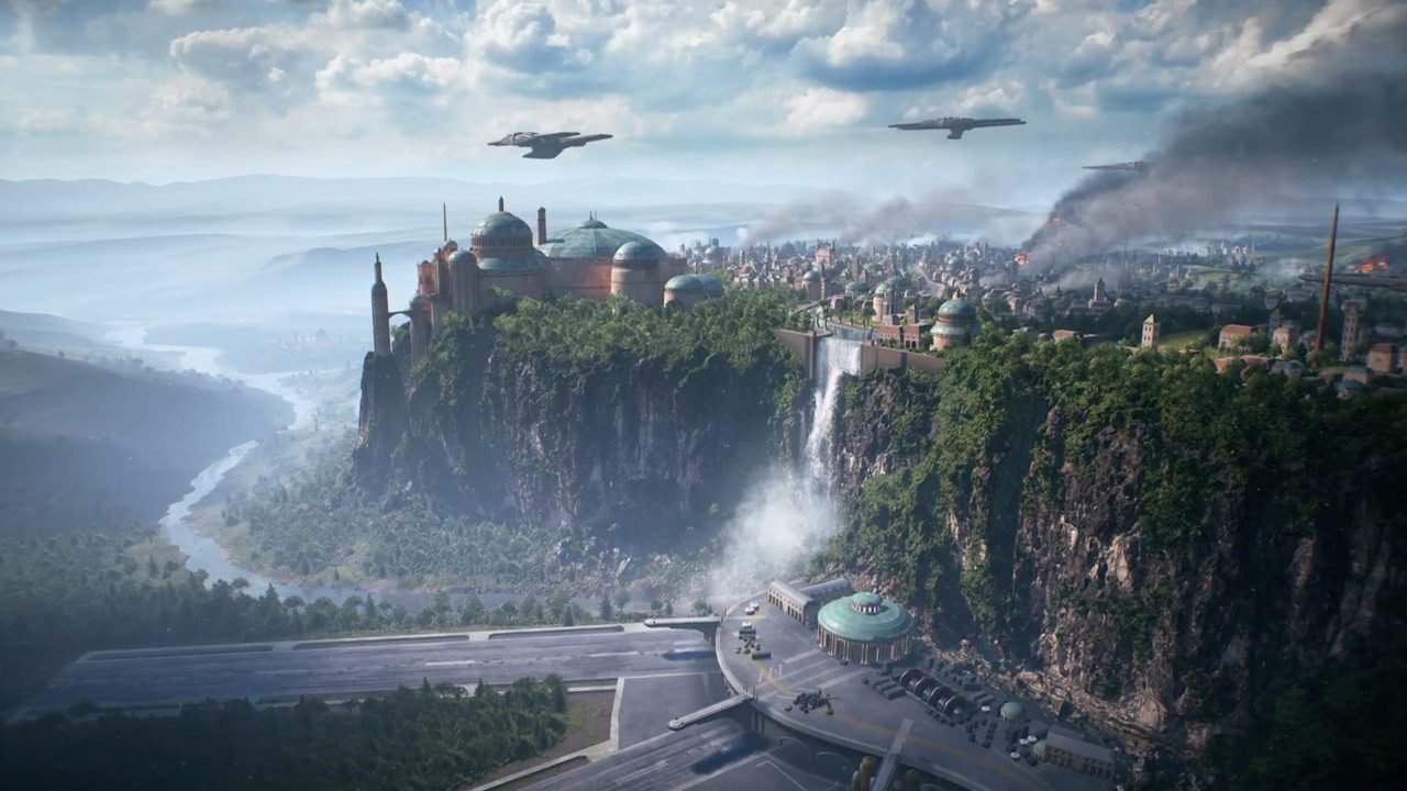 beta assault on theed mappa multiplayer star wars battlefront ii