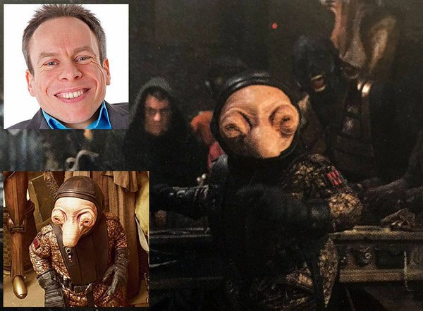 Warwick davis in episodio VII