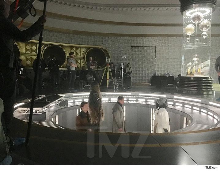 foto dal set di han solo